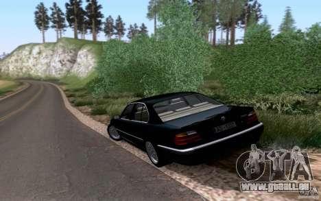 BMW 730i E38 pour GTA San Andreas vue arrière