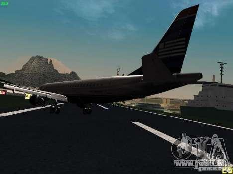 Embraer ERJ 190 USAirways für GTA San Andreas zurück linke Ansicht