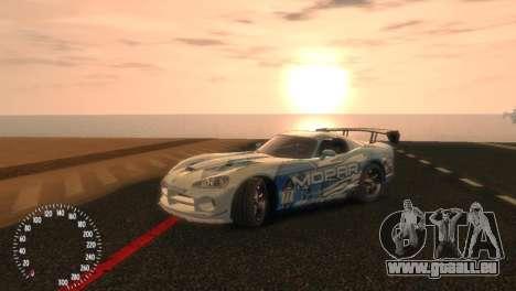 Dodge Viper SRT-10 Mopar Drift für GTA 4 rechte Ansicht