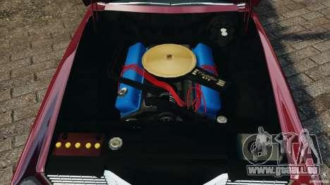 Cadillac Eldorado 1968 pour GTA 4 vue de dessus
