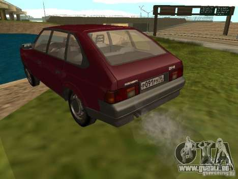 AZLK Moskvich 2141 für GTA San Andreas zurück linke Ansicht