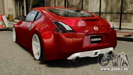 Nissan 370Z 2010 pour GTA 4 Vue arrière de la gauche