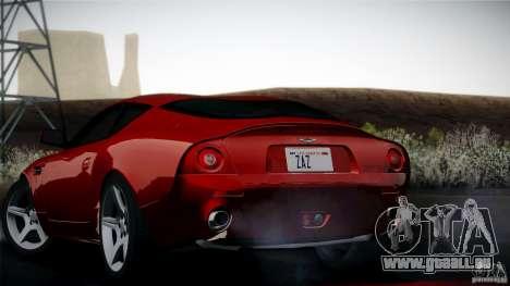 Aston Martin DB7 Zagato 2003 pour GTA San Andreas vue intérieure