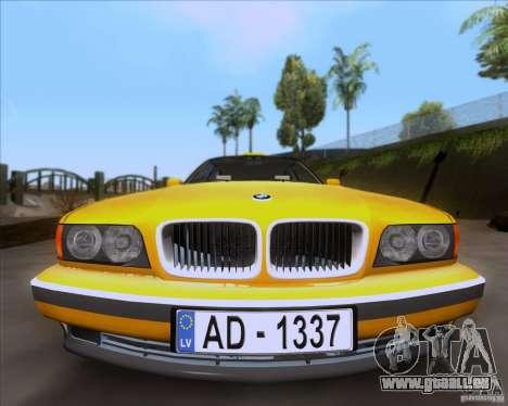 BMW 730i E38 1996 Taxi pour GTA San Andreas vue de droite
