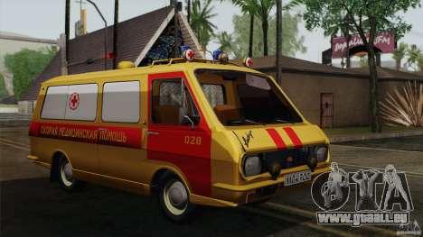 RAF 22031 Latvija Krankenwagen für GTA San Andreas Rückansicht
