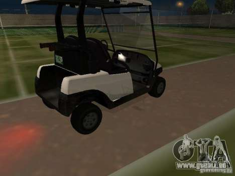 Caddy de GTA TBoGT pour GTA San Andreas vue intérieure