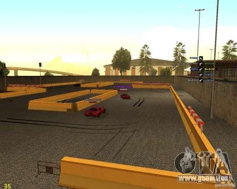 Circuit de dérive pour GTA San Andreas troisième écran