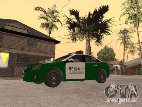 Chevrolet Cruze Carabineros Police für GTA San Andreas linke Ansicht