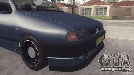 Seat Ibiza GLXI 1.4 1994 pour GTA San Andreas sur la vue arrière gauche