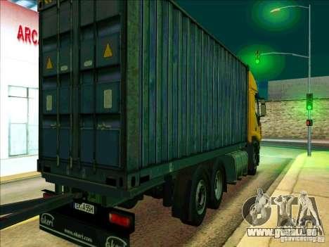 Iveco Stralis pour GTA San Andreas sur la vue arrière gauche