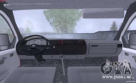 Foyer au gaz 33023 pour GTA San Andreas vue arrière