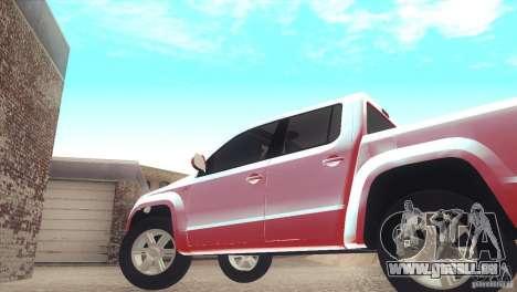 Volkswagen Amarok TDI Trendline 2013 pour GTA San Andreas vue de droite