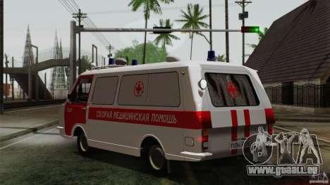 RAF 22031 Latvija ambulance pour GTA San Andreas laissé vue