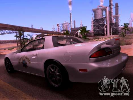 Chevrolet Camaro 2002 California Highway Patrol für GTA San Andreas linke Ansicht