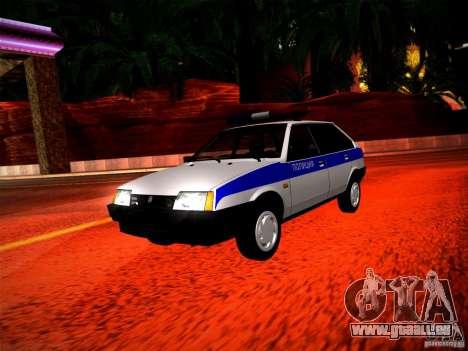 Police Vaz 2109 pour GTA San Andreas laissé vue