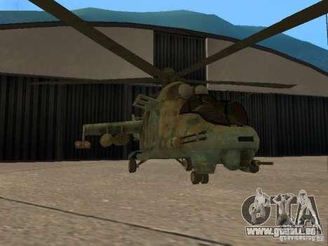 Mi-24p für GTA San Andreas Rückansicht