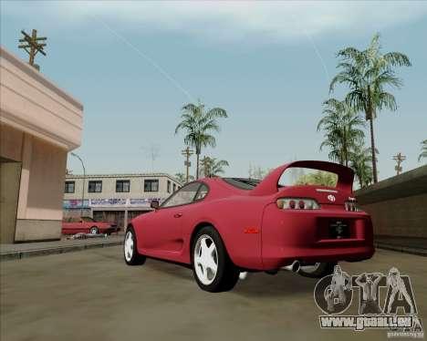 Toyota Supra RZ 98 Twin Turbo pour GTA San Andreas sur la vue arrière gauche