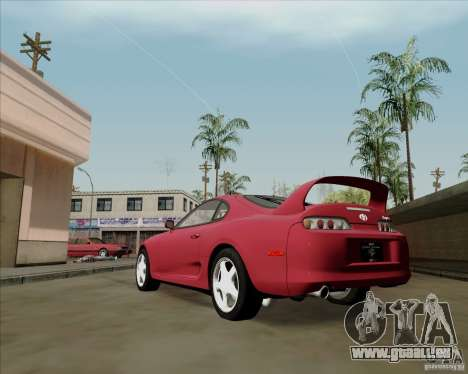 Toyota Supra RZ 98 Twin Turbo für GTA San Andreas zurück linke Ansicht