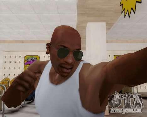 Lunettes de soleil verts lunette pour GTA San Andreas troisième écran