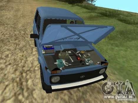 VAZ 21214 Niva pour GTA San Andreas vue intérieure