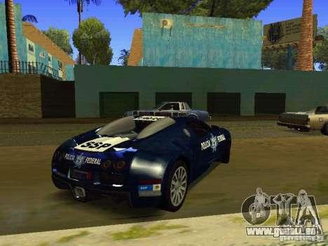 Bugatti Veyron Federal Police für GTA San Andreas zurück linke Ansicht
