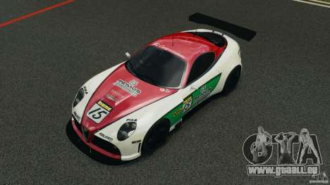 Alfa Romeo 8C Competizione Body Kit 1 pour GTA 4 vue de dessus