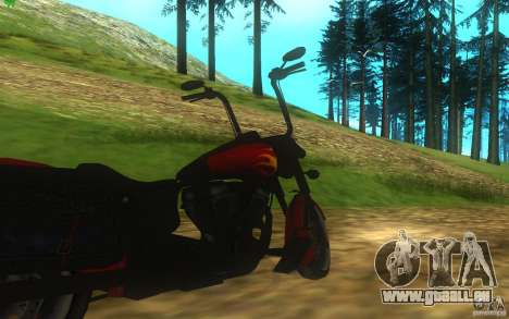 Motorcycle from Mercenaries 2 für GTA San Andreas Rückansicht
