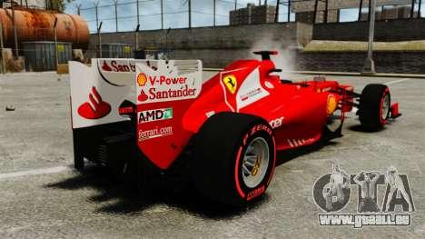Ferrari F2012 pour GTA 4 Vue arrière de la gauche