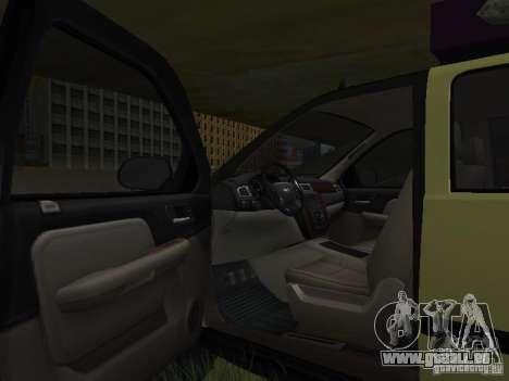 Chevrolet Tahoe Off Road pour GTA San Andreas vue intérieure