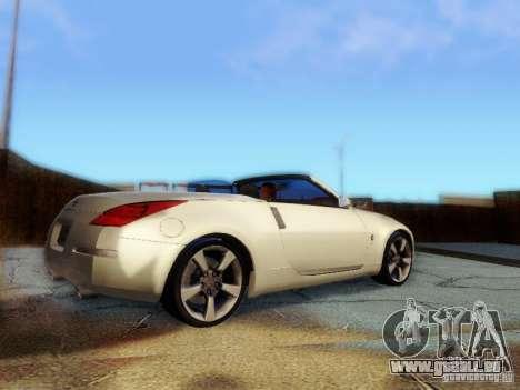 Nissan 350Z Cabrio pour GTA San Andreas laissé vue