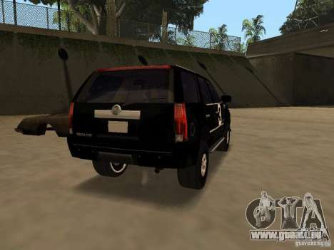 Cadillac Escalade Tallahassee für GTA San Andreas zurück linke Ansicht