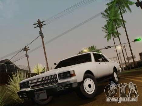 Chevrolet Caprice 1986 für GTA San Andreas Innen