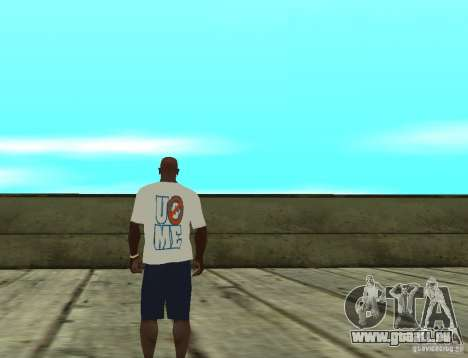 WWE John Cena t-shirt für GTA San Andreas zweiten Screenshot