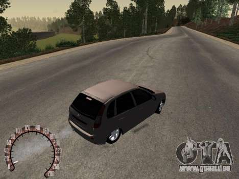 LADA 1119 pour GTA San Andreas sur la vue arrière gauche