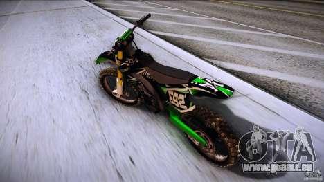 Kawasaki KLX 250S pour GTA San Andreas sur la vue arrière gauche
