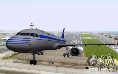 Airbus A-319 Azerbaijan Airlines pour GTA San Andreas laissé vue