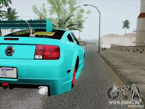 Ford Mustang GT Lowlife für GTA San Andreas Seitenansicht