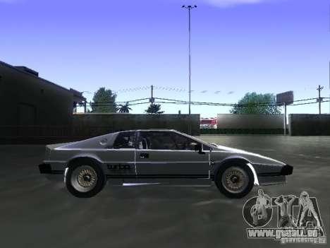 Lotus Esprit Turbo pour GTA San Andreas sur la vue arrière gauche