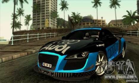 Audi R8 Spyder Tunable für GTA San Andreas obere Ansicht