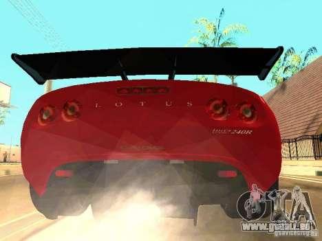 Lotus Exige 240R pour GTA San Andreas vue de côté