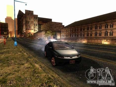 Honda Civic Si 2007 pour GTA San Andreas laissé vue