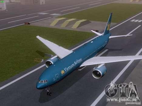 Boeing 777-2Q8ER Vietnam Airlines pour GTA San Andreas vue intérieure