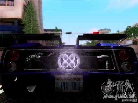 Pagani Zonda C12S Roadster für GTA San Andreas linke Ansicht