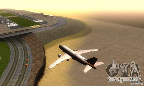 Airbus A319 British Airways Olympic Dove für GTA San Andreas rechten Ansicht