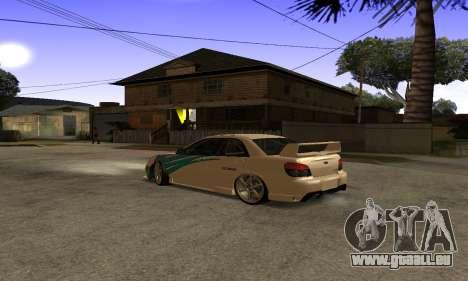 Subaru Impreza WRX STi 2006 pour GTA San Andreas vue de côté