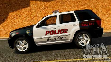 Jeep Grand Cherokee SRT8 2008 Police [ELS] für GTA 4 linke Ansicht