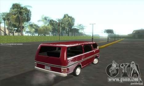 Nissan Caravan E20 pour GTA San Andreas sur la vue arrière gauche