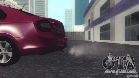 Skoda Rapid 1.6 C.R TDi 2013 V1 pour GTA San Andreas vue de droite