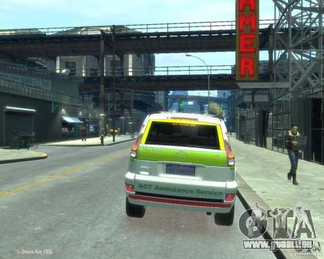 Toyota Land Cruiser Prado Police pour GTA 4 Vue arrière de la gauche