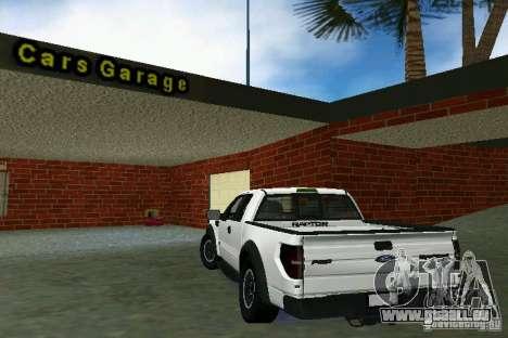 Ford F-150 SVT Raptor für GTA Vice City rechten Ansicht